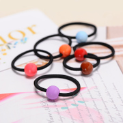 Know Connie hair accessories Korean tiara Candy-colored string acrylic round rope ring hair accessory jewelry