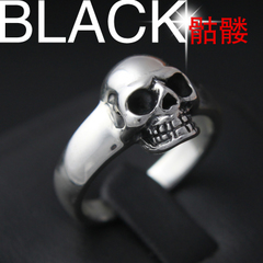 Chandos s925 silver skull ring men retro old silversmith Thai silver couple rings female finger ring