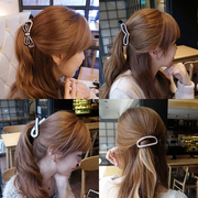 Know NI Korea magazine big bow rhinestone caught clip Barrette Korean diamond hair accessory jewelry