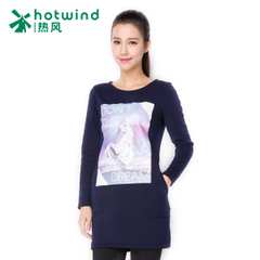 Long long sleeve t shirt in the hot spring and autumn ladies ' female Korean student trend printed t-shirt woman 09H5900
