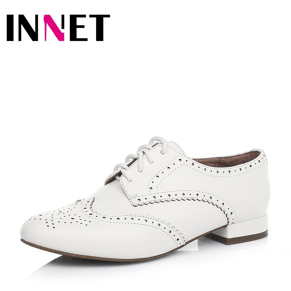 百丽旗下INNET/茵奈儿2016新款女鞋布洛克单鞋女UQL08CM6