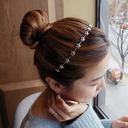 Know Connie hair accessories Korean Korean Korean headdress five-pointed star metal thin headband headband hairpin