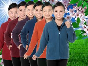 中老年女装春秋季冬装摇粒绒抓绒卫衣大码妈妈装加厚加绒保暖外套