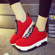 2015 new Korean student casual women's shoes for the winter quarter feet lazy crowd muffin thick-soled trainers