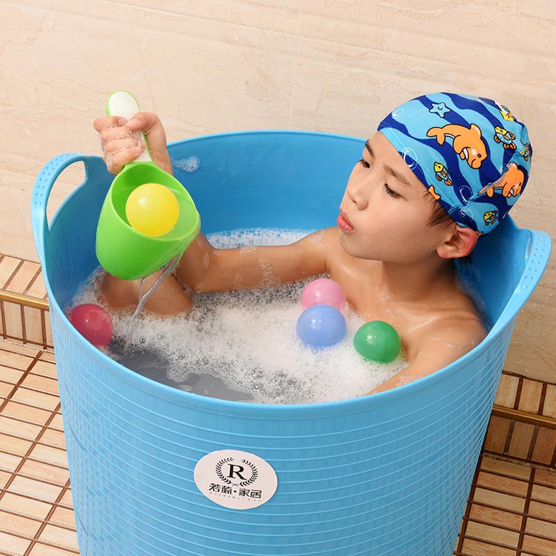 加厚超大号儿童洗澡桶宝宝浴桶泡澡桶塑料沐浴桶婴儿浴盆澡盆游泳