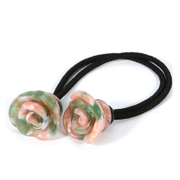NEW female flower hair band hair Leopard rose rope rope acetate jewelry authentic