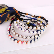 Know Connie hair Ribbon headband hair band Pearl Korea long aristocratic Han provided hoop fabric bows ornaments