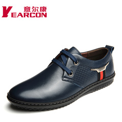 Erkang spring 2015 new genuine leather men's shoes trend of lacing shoes of England men's casual shoes