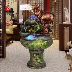 利星工艺品礼品吉祥如意大象流水喷泉招财摆件客厅装饰品小摆设
