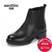 Westlink/West New 2015 winter leather round elastic set of feet with the women in boots, Chelsea boots