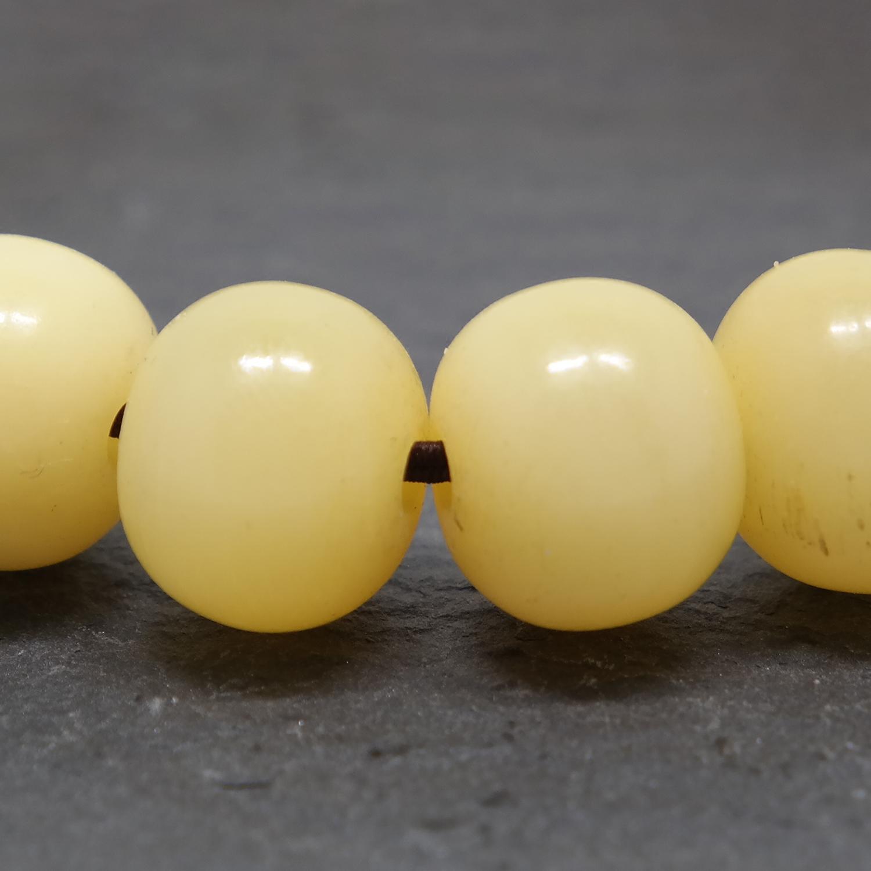 老化鹿骨手串手链乳黄色18颗手串手链14mm苹果圆涅槃