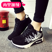 Korean version of the 2015 winter new Canada add cotton warm casual sport shoes with thick fleece Velcro strap at the end of students ' shoes