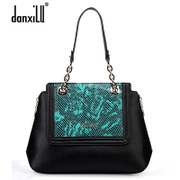 Ladies shoulder bag for 2015 female header layer of leather simple fashion fall/winter new style leather handbag