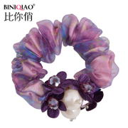 Simple quality rope Korea elastic hair band hair yarn silk flower hair accessories hair accessories
