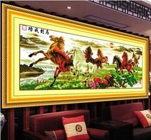 蒙娜丽莎十ld2绣真好绣gp画客厅八骏图马到成功2米2.5米3米