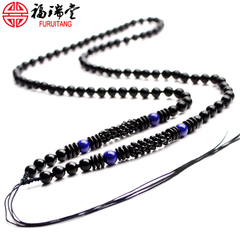 Hand-woven beads pendants hanging rope lanyard Golden jade jade pendant pendant rope for men and women-weight red rope