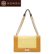 Honggu Hong Gu counters authentic western leather shoulder hand chain fashion handbags 0745
