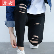 2017 spring new Korean wild wild wear wearing leggings summer nine cents feet pants thin section black pants