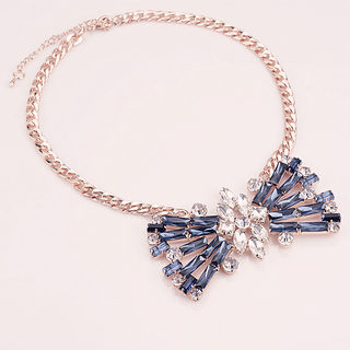 Mail compose good colorful hyperbole in Europe and America female classic retro style drop necklace decorated short-chain fashion accessories