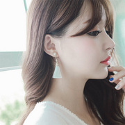 Cool na Korean Korean fashion jewelry ear qualities woman photographer Sue rhinestone ear studs earrings pendants pearls 2043