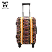 Wanlima/million 2015 fall/winter new fashion luggage shopping malls with quality universal wheel trolley case