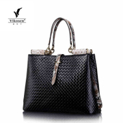 Female for 2015 of new European and American fashion woman weaving pattern leather handbag suede leather bag ladies handbag