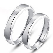 925 Silver lovers rings filled with ornaments you a ladies man alive frosted ring engraving