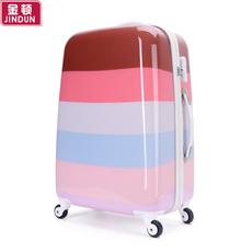 可爱女拉杆箱韩国万向轮镜面潮旅行箱20寸24寸行李箱登机密码箱包