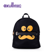 Exull q2016 new spring backpack school casual cartoon cute female colour matching zipper bag 16313263