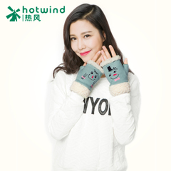 Hot new lady fun half finger gloves women winter cute Korean knitted gloves 88H085902