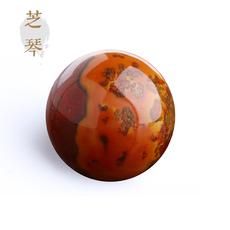 芝琴-优选10-22mm天然战国红玛瑙圆珠隔珠散珠子DIY佛珠手串手链