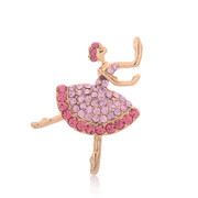 Good jewelry brooch pin cute girl brooch corsage Korea brooch pin rhinestones dancer