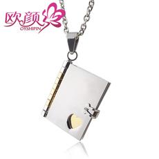 欧颜 韩版创意情书项链 女 男生表白示爱创意礼物 可刻字情书