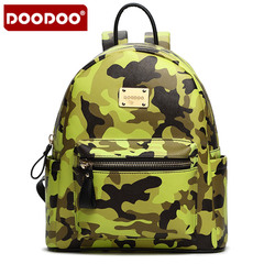 Doodoo bag Camo backpack girls College wind middle school students Street backpacks large Pu leather bags