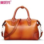 Autumn of 2015 tide leather handbag suede leather fashion middle-aged lady bag new diagonal shoulder handbag women
