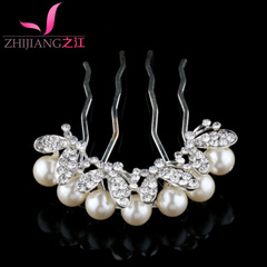 River Pearl hair comb hair accessory plug comb Korea water bit decorating comb bangs into issuing bridal hair accessories