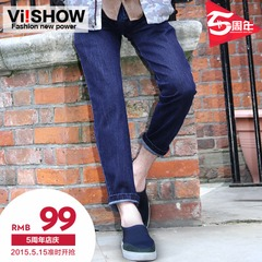 Viishow2015 spring and autumn fashion jeans men's straight leg denim trousers was simple men's trousers straight