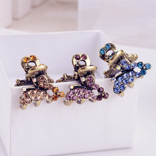 Good jewelry authentic Korea hair accessories Korean tiara hair clip hairpin large claw clips hair catch clips rhinestone