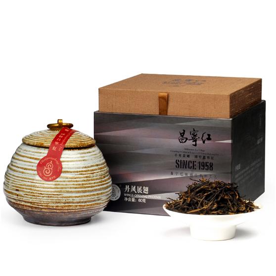 云南红茶滇红茶特级 昌宁红蜜香丹凤展翅礼盒罐装 工夫大叶种红茶