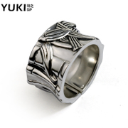YUKI Thai men''s 925 Silver ring rings silver jewelry finger ring bamboo ring domineering retro hipster girls