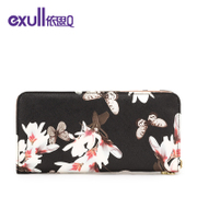 Exull q2015 new autumn fashion print zips portable wallet clutch bag 15335215