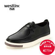 West Westlink/casual shoes men's shoes new black straps of soft leather shoes in the winter Korean youth