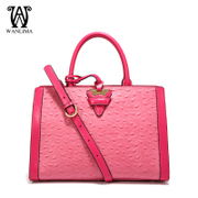 Wanlima/million 2015 new handbags for fall/winter fashion leather ostrich grain bag slung satchel tide