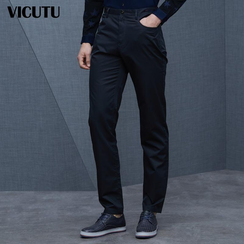 春商务休闲裤 直筒常规小脚休闲裤VBW14120431