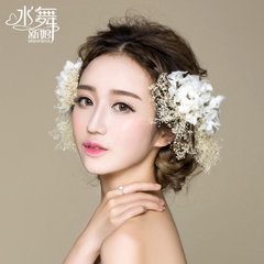 Beauty is just too B0823 Heigh Ho ball live with flowers bridal tiara Korean Handmade flowers flower wedding hair accessories
