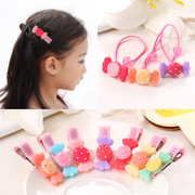 Know Richie jewelry Korean resin candy hair clip bangs cute girls '' hair band hair tie band children''s hair accessories