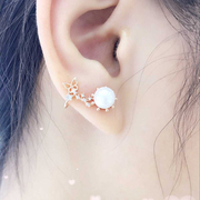 Ya-na Korean cute Pearl Butterfly Stud Earrings fashion jewelry earrings Korean gift ear hook