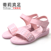 Leather Sandals shoes new 2015 summer tide student flat flat female end of summer leisure massage shoes