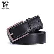 Pin buckle leather business casual Korean version of Wan Lima man belt leather fashion belt
