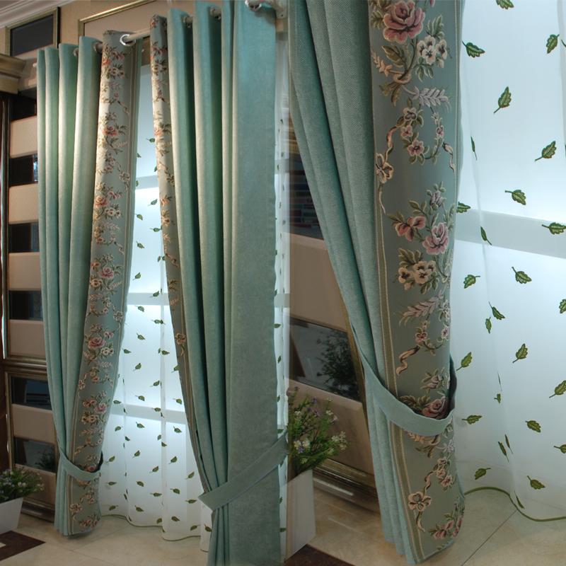 遮光窗帘成品简约现代卧室飘窗客厅纱帘窗纱北欧网红窗帘布